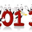 New Year 2013 Mascots - Stock Photo