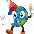 Stock Photo: New Year Earth Mascot