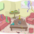 House After a Party — Stockfoto