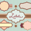 Badges and Labels Retro Design 2 — Stock Photo