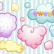 Sweet Cloud Labels — Foto de Stock