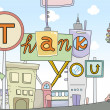 Thank You Card Urban Design — Stock Photo #19415121