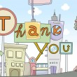 Thank You Card Urban Design — Stock Photo