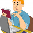 Stock Photo: Guy Writer Researching
