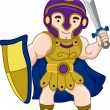 Ancient Greek Warrior - Stock Photo