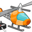 Remote Controlled Toy Helicopter - Stock Photo