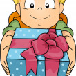 Gift Boy - Stock Photo