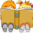 Reading Kids - Stockfoto