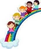 Mångfald rainbow — Stockfoto