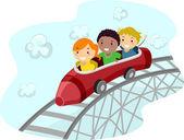 Roller coaster crayon — Stockfoto