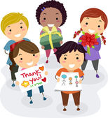 Teacher's Gift Kids — Stock Photo