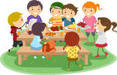 Picnic Kids — Stock Photo