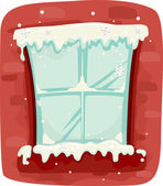 Winter Window — Foto de Stock