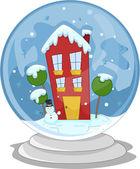 Snow Globe House — Stock Photo