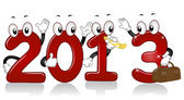 New Year 2013 Mascots — Stock Photo