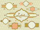 Badges and Labels Retro Design 3 — Stock Photo