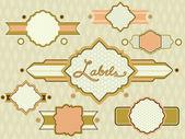 Badges and Labels Retro Design 3 — Stock Photo