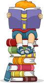 Läsande pojke — Stockfoto