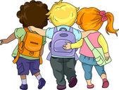 Kids Walking Together — Stock Photo