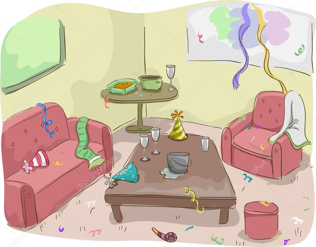 haus nach einer party stockfoto lenmdp 19415021. Black Bedroom Furniture Sets. Home Design Ideas