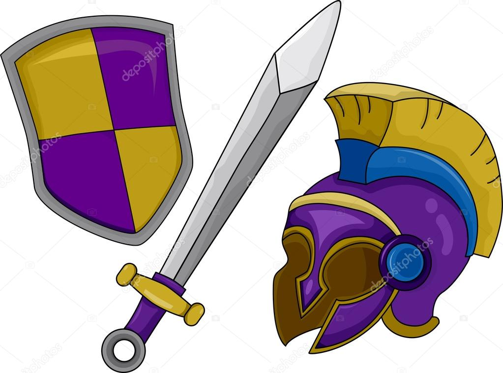 Helmet Sword Shield Helmet Shield And Sword