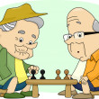 Old Men Playing Chess - Foto Stock
