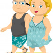 Senior Couple Taking a Walk on the Beach - Foto de Stock