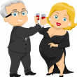 Senior Couple Having a Toast — Stock Photo