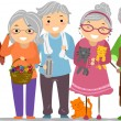 Senior Citizens Stickman — Stock Photo