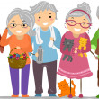 Stock Photo: Senior Citizens Stickman