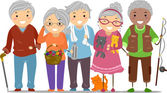 Senior Citizens Stickman — Foto de Stock