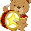 Circus Bear Drummer — Stock Photo #20980089