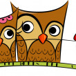 Owl Couple — Stock Photo