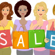 Sale Girls - Stock Photo
