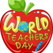 World Teachers' Day Apple — Stock Photo #20981077