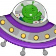 Alien Spaceship - Stockfoto