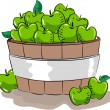 Apple Bucket — Stockfoto