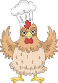 Chicken Chef Mascot — Stock Photo