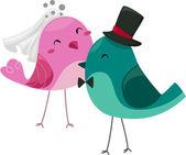 Oiseaux de la mariée et le marié — Photo