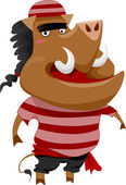 Wild Boar Pirate — Stock Photo