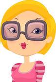 Girl with Eyeglasses — Stock Photo