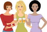 Ragazze birra — Foto Stock