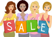 Sale Girls — Stock Photo