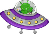Alien Spaceship — Stock Photo