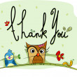 Foto Stock: Thank You Card