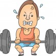 Man Weightlifting — Stock Photo