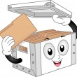 Storage Box Mascot — Stock Photo