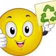 Recycle Sign Smiley - Stock Photo