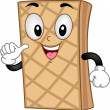 Royalty-Free Stock Photo: Mascot Wafer