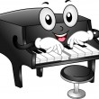 Grand Piano Mascot — Stock Photo